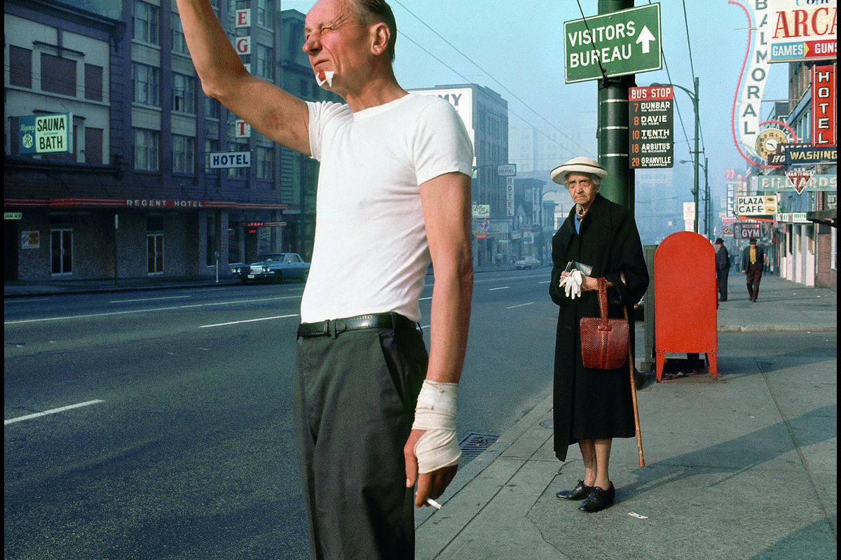 Man with bandage – Fred Herzog, 1968